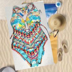BAR III one piece swimsuit monokini XS NWT